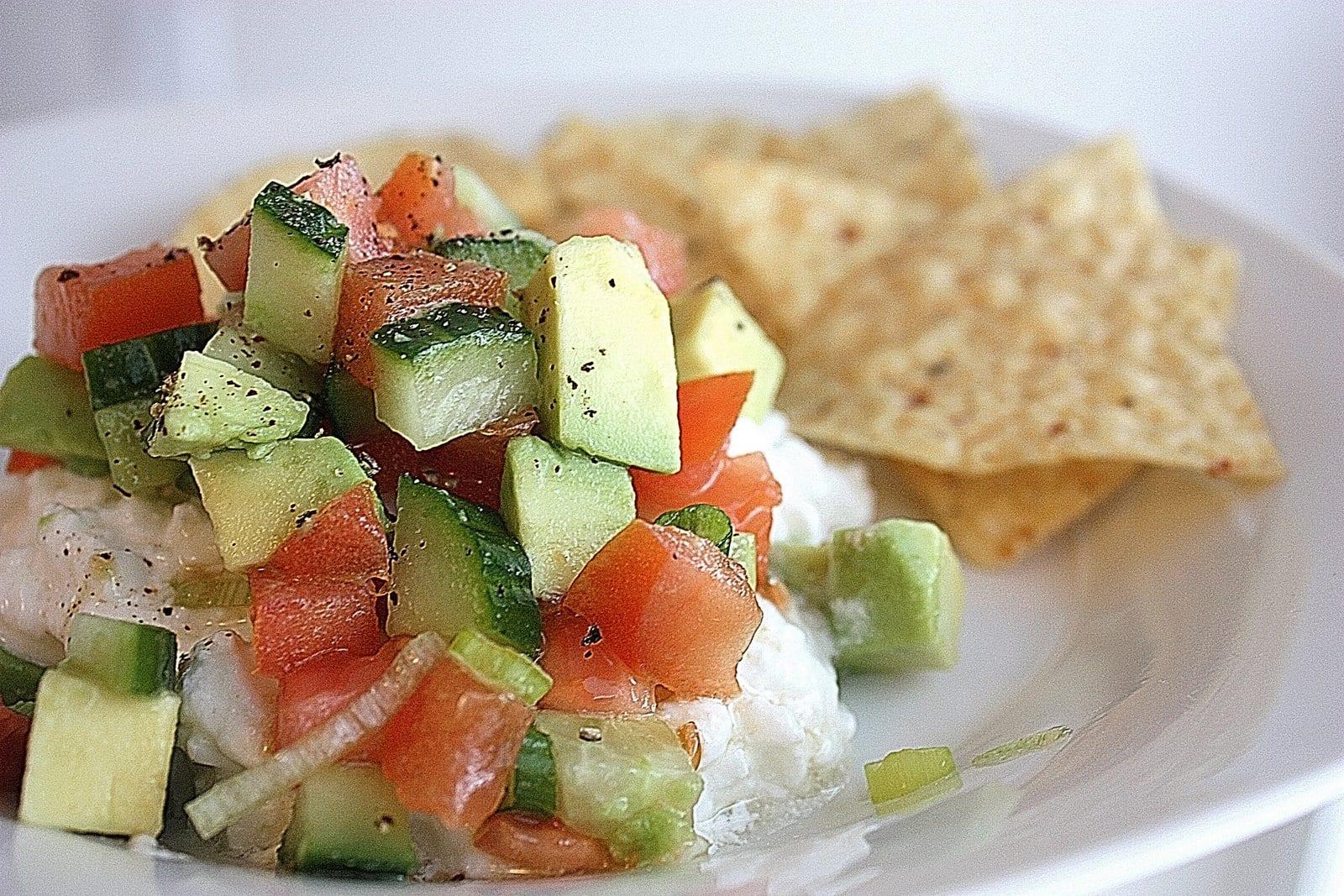 So Fresh, So Filling….Veggie/Cottage Cheese Dip