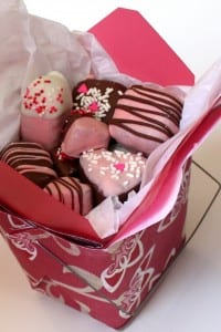 Valentine's Cake Pops and Container