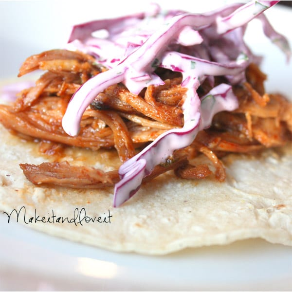Sweet Pork Tacos with Cilantro Lime Slaw