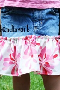 Re-purposing: Twirly Jean Skirt