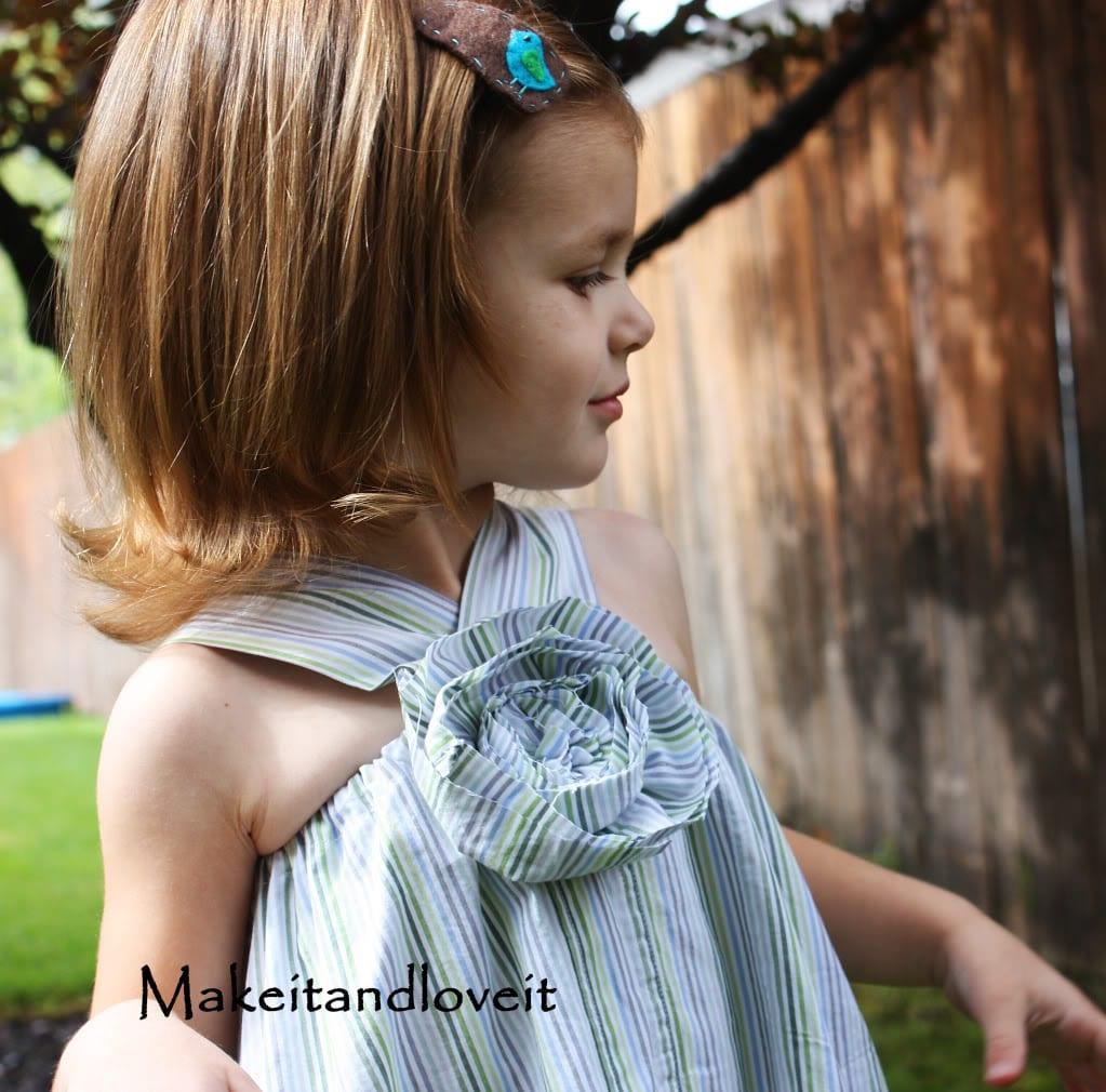 Repurposing – Simple Dress (from Men's Button-Up shirt)