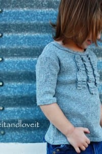 Repurposing - Girl's Ruffle Front Shirt