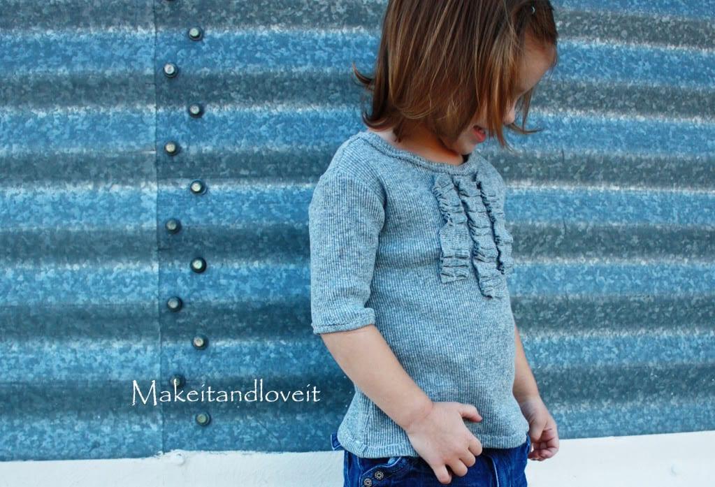 Repurposing – Girl's Ruffle Front Shirt