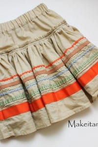 Re-purposing: Girl's Skirt