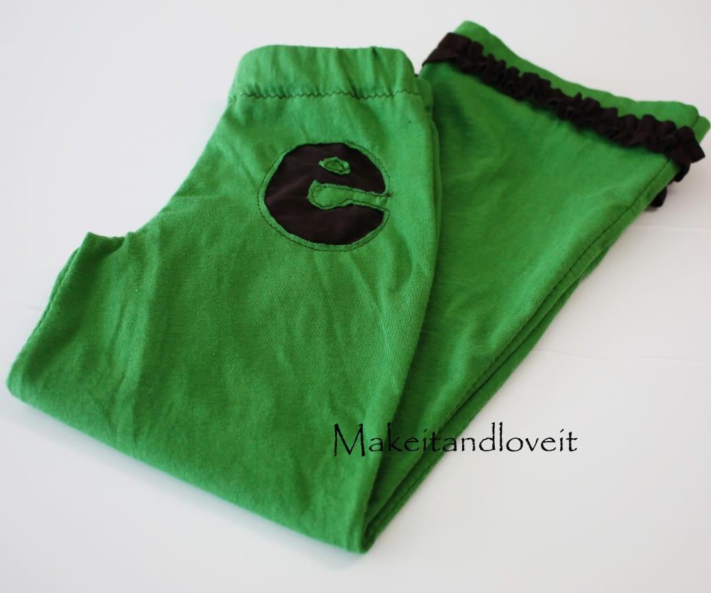 Re-pursposing: Girl's 'Initial' Pants