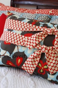 Decorate My Home, Part 6 - Pillow with Ties