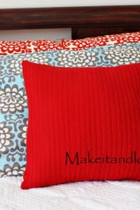 Decorate My Home, Part 5 - Re-purposed Sweater Pillow
