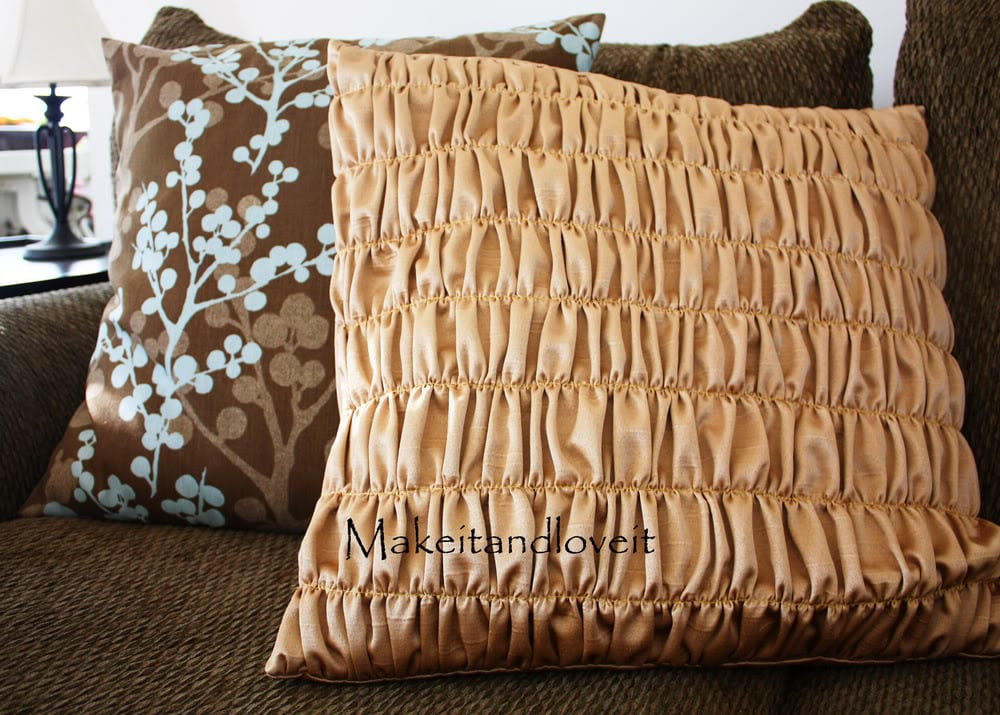 Decorate My Home, Part 3 – Gathered Pillow Covers