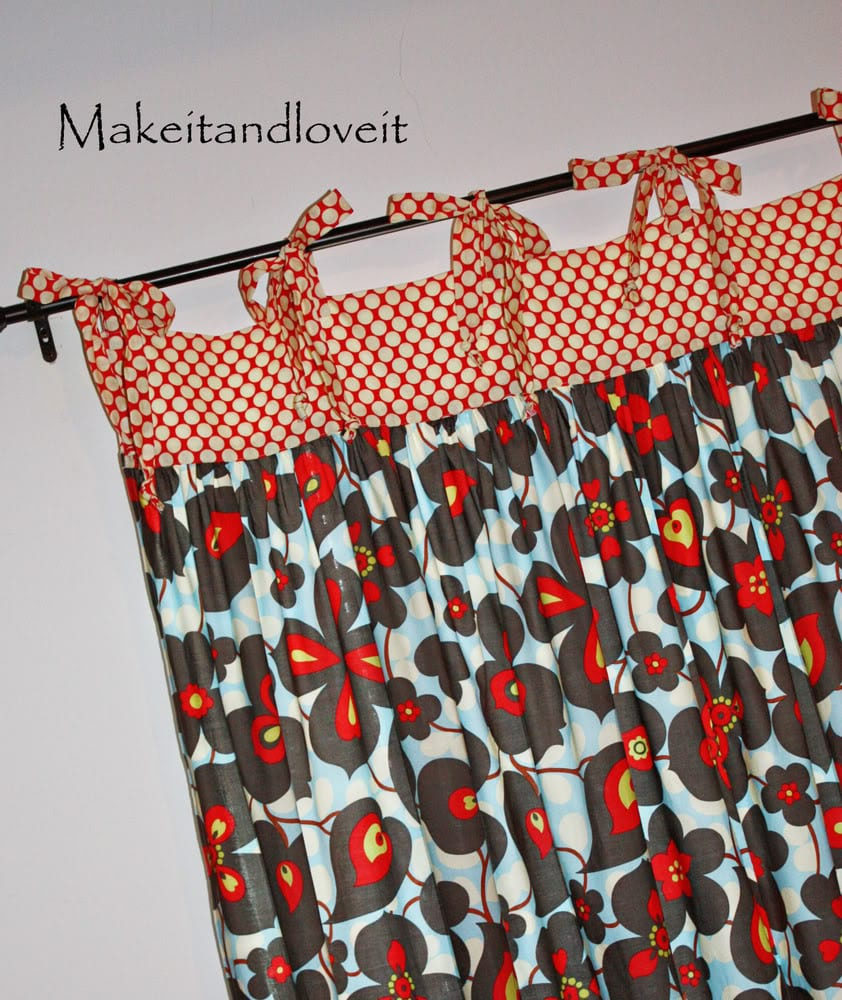 Decorate My Home, Part 10: Gathered Curtains with Ties