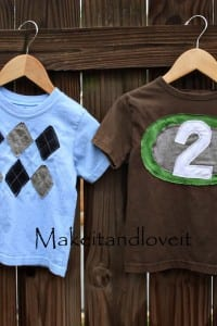 Re-purposing: Boys Tshirts, Part II
