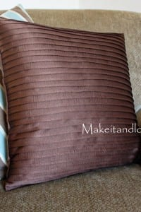 Decorate My Home, Part 14 - Pleated Pillow Covers