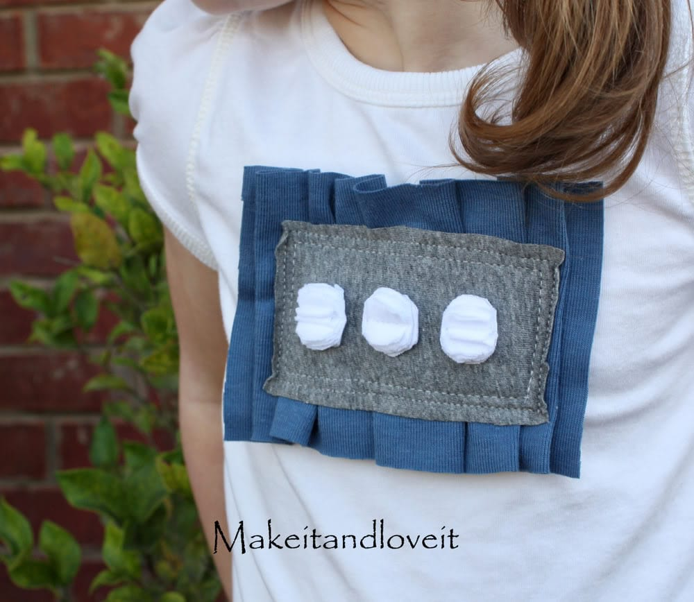 Girl's Ruffled Rectangle Shirt
