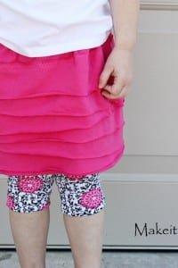 Girl's Knit Layered Skirt