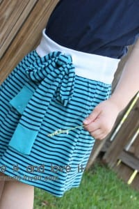 Re-purposing: Shirt(s) to Skirt with Tie