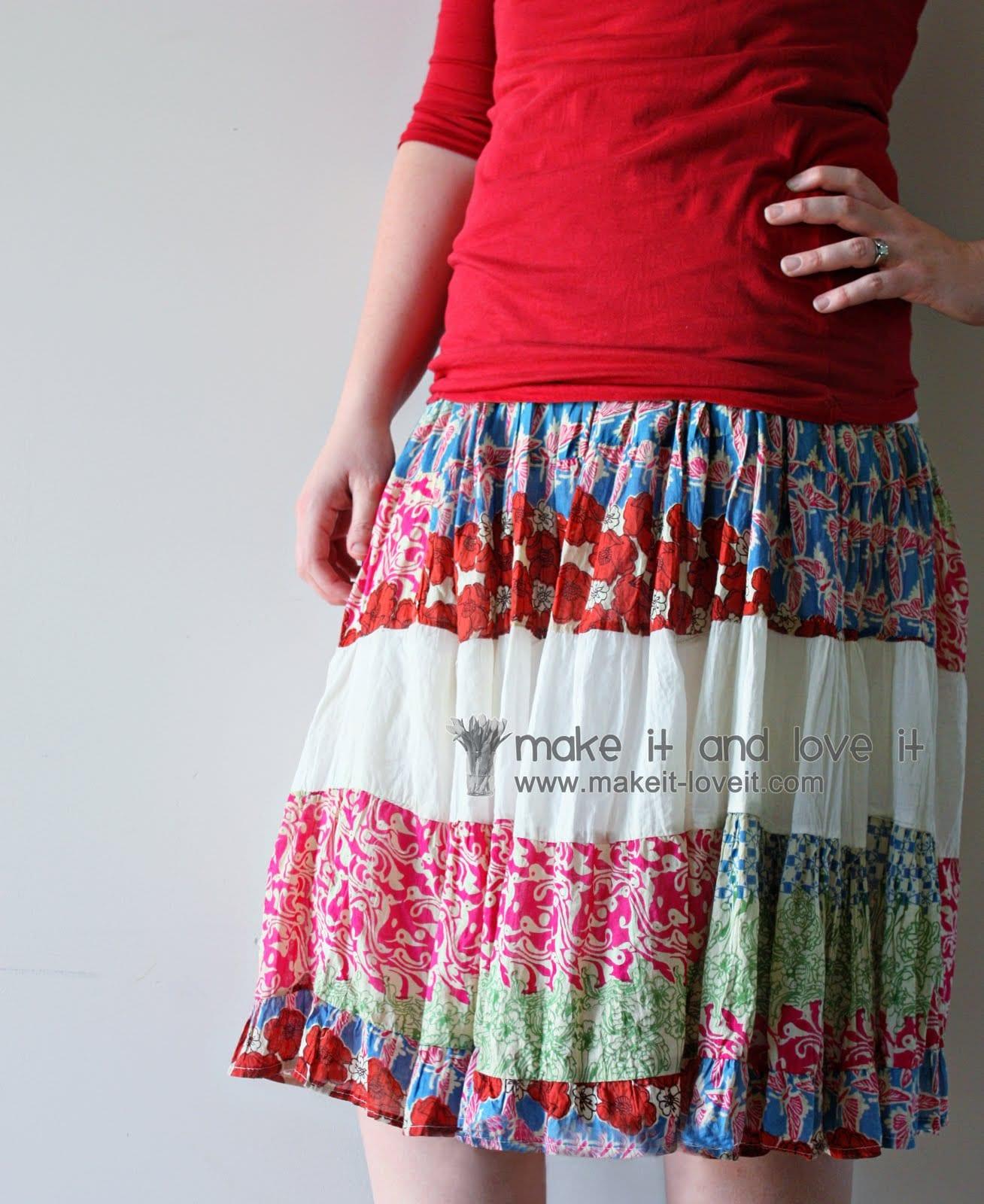 Re-purposing: Women's Dress to Skirt