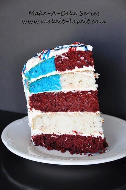 Make-a-Cake Series: Flag Cake