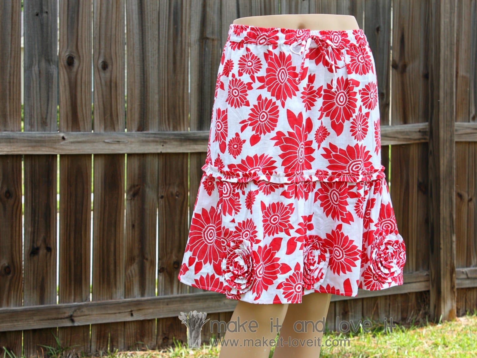 Skirt Alterations – Long to Short…with added Flowers/Ruffles