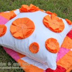 Decorate My Home, Part 21 - Flowered Pillow Cover