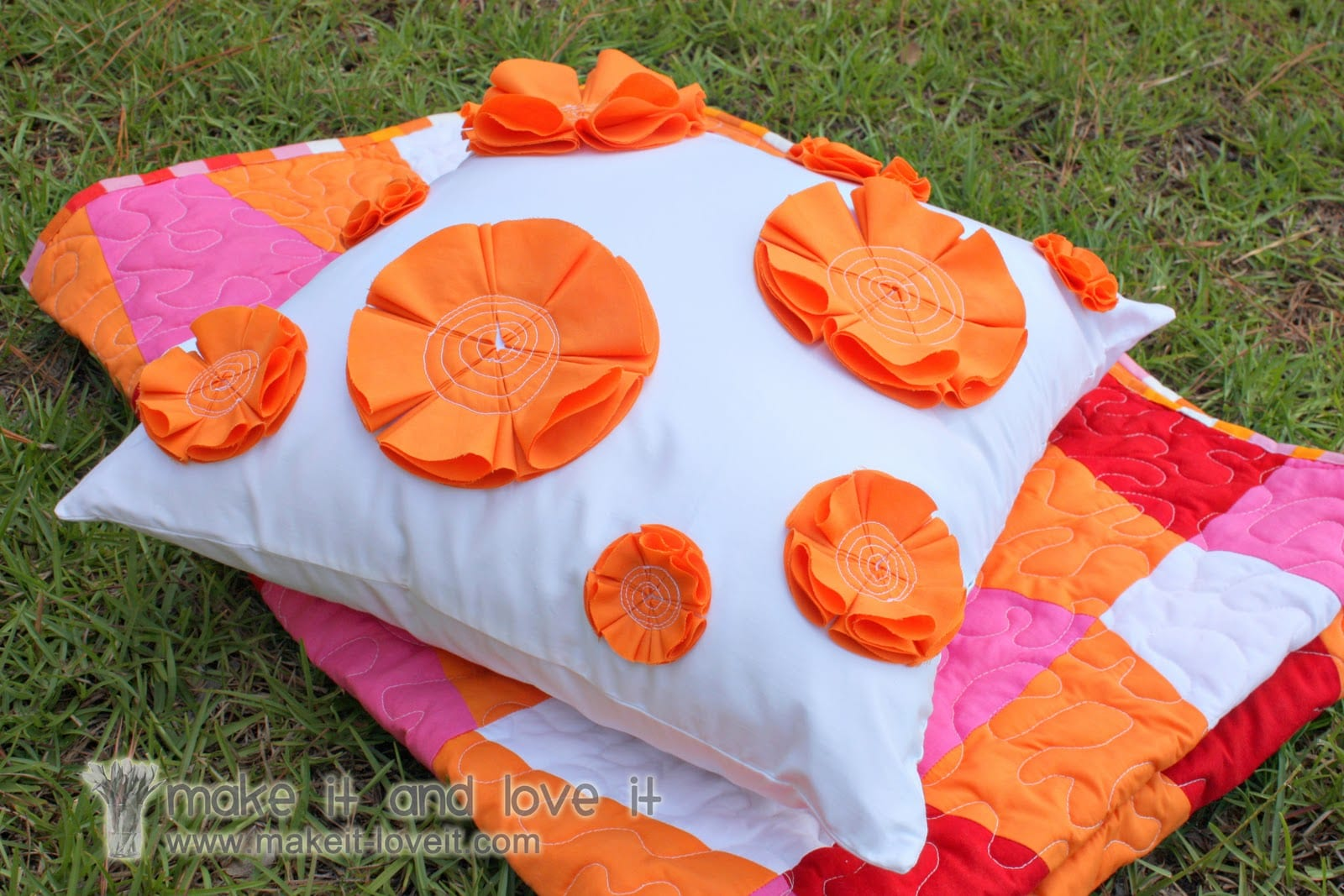 Decorate My Home, Part 21 – Flowered Pillow Cover