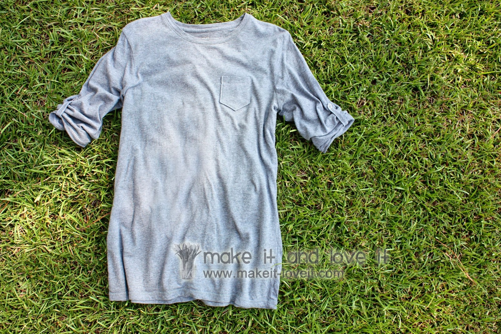 Re-purposing: Women's Long Sleeved Shirt into Short Sleeves……and a new friend!