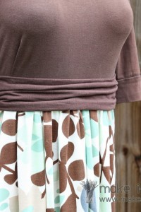 Re-purposing: Women's Knit Shirt into Dress
