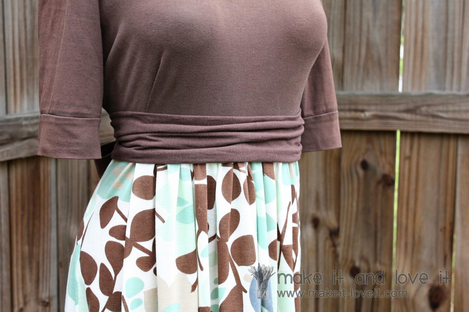Re-purposing: Women's Knit Shirt into Dress