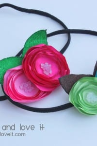 Satin Flower Headbands
