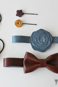 Faux Leather (ahem, vinyl) Hair Accessories
