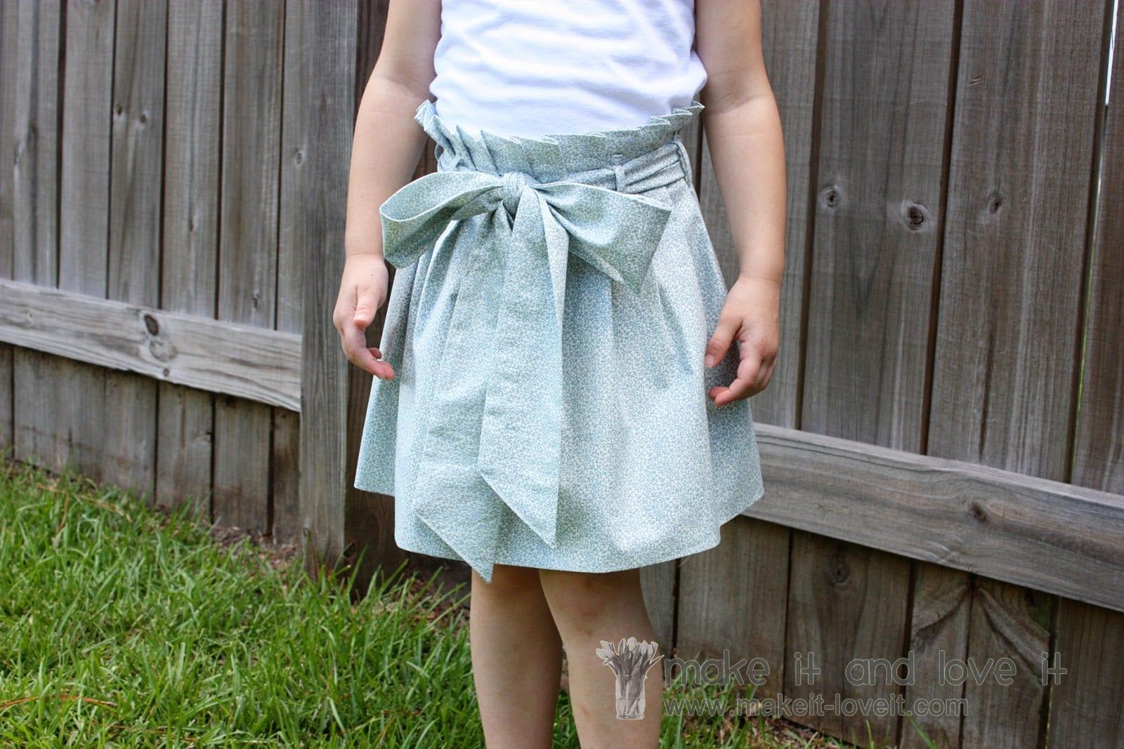 Paper Bag Skirt…….{{and hidden mistake}}