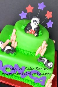 Make-a-Cake Series: Panda and Bamboo