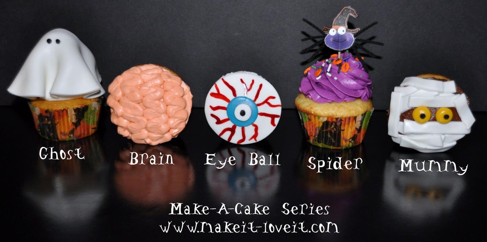 Make-a-Cake Series: Halloween Cupcakes