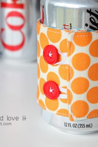 Ice Cream Cozy / Soda Can Cozy......tucked into a Gift Tote