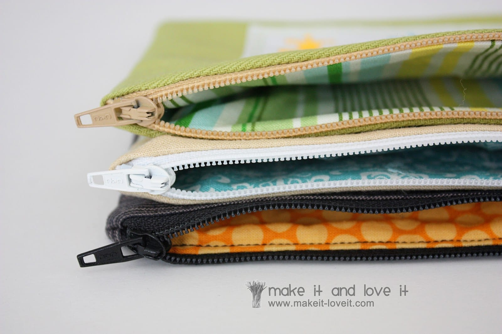 Zippered Pouches personalized with Iron-On Vinyl