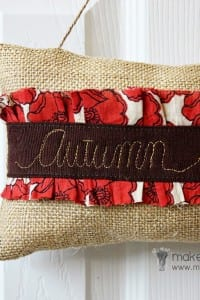 Autumn Door Hanger for SEWING REPUBLIC