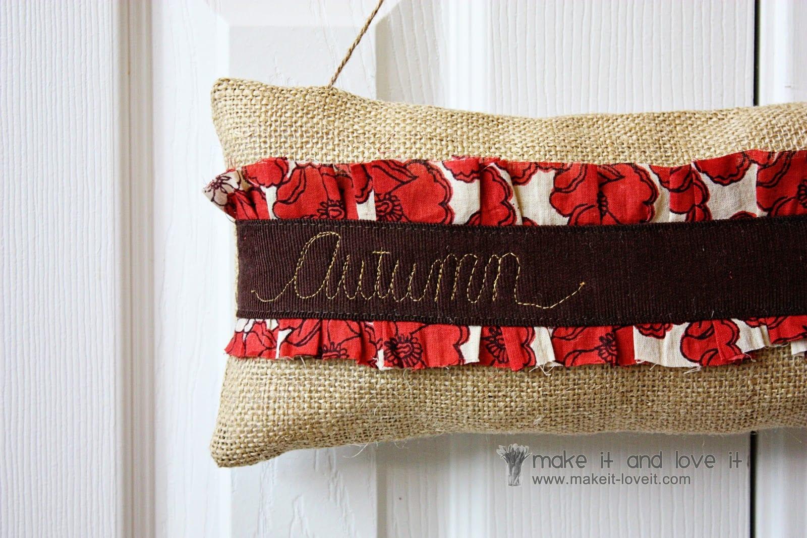 Autumn Door Hanger for SEWING REPUBLIC