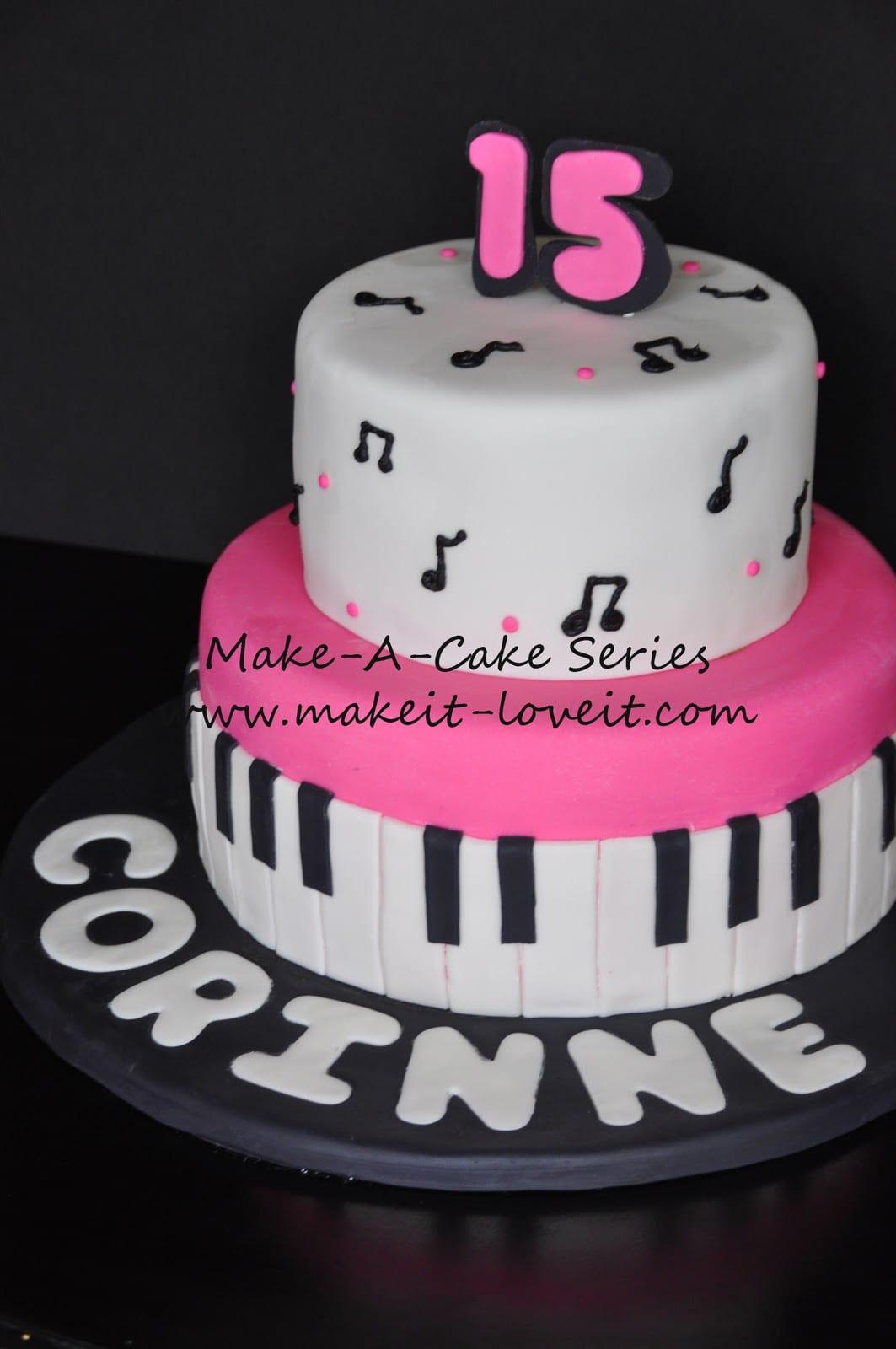 Make-a-Cake Series: Music Cake
