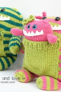 Knitted Monsters from Christmas...