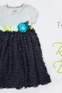 Re-Purposing: T-shirt into Ruffly Dress