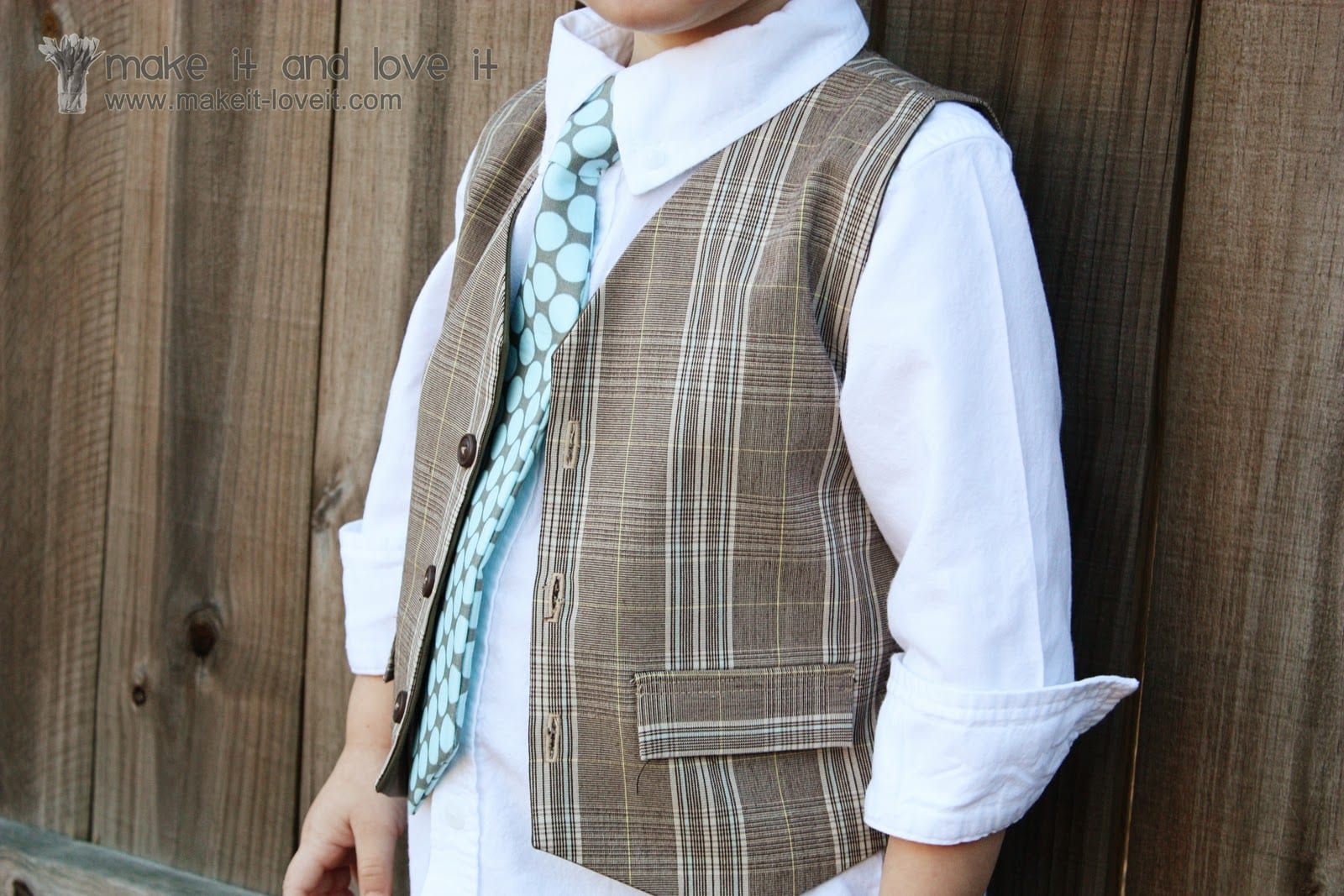 Re-purposing: Reversible Boy's Vest from Old Trousers