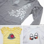 More with the Silhouette: Freezer Paper Stenciling and Heat Transfer TEES