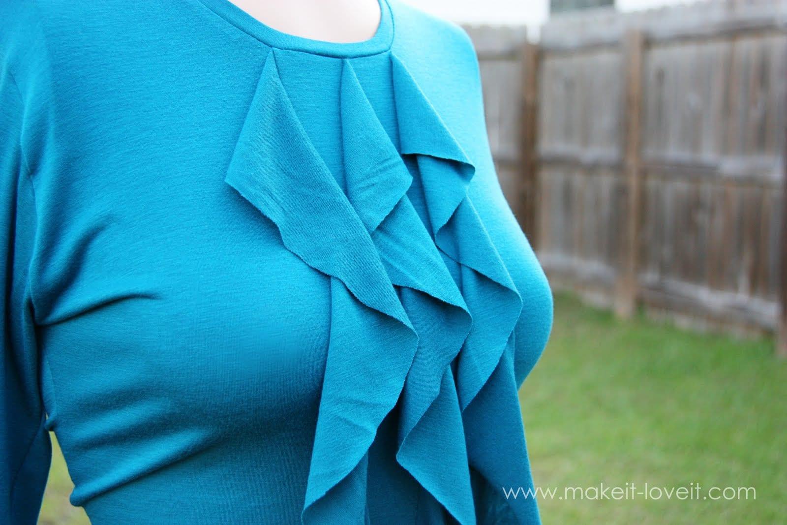Cascading Ruffle Front, Woman's Shirt