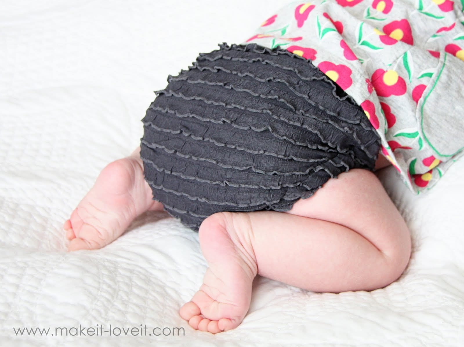 Diaper Covers with Ruffle Fabric