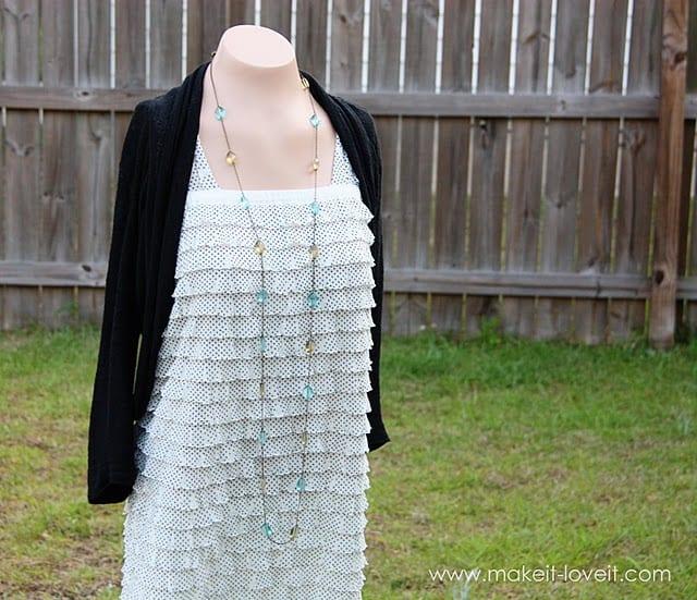 Long Ruffled Maxi Dress (using pre-ruffled fabric)