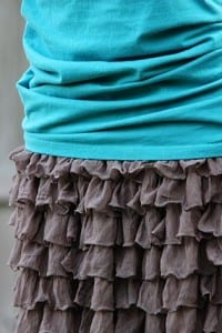 Ruffly Skirt……from pre-ruffled fabric