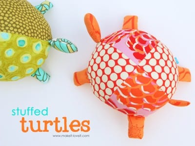 fabric stuffed turtle