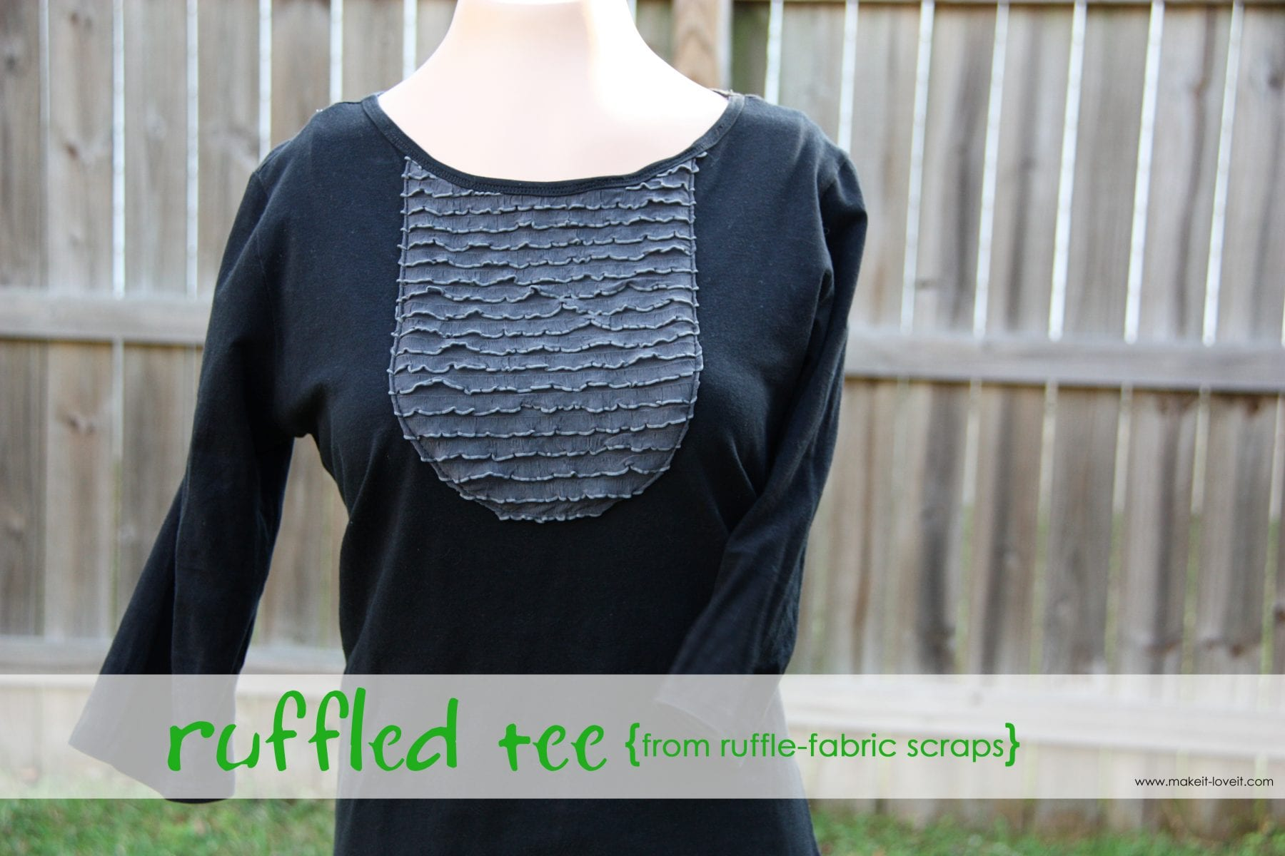 Ruffle Shirt {from ruffle fabric scraps}