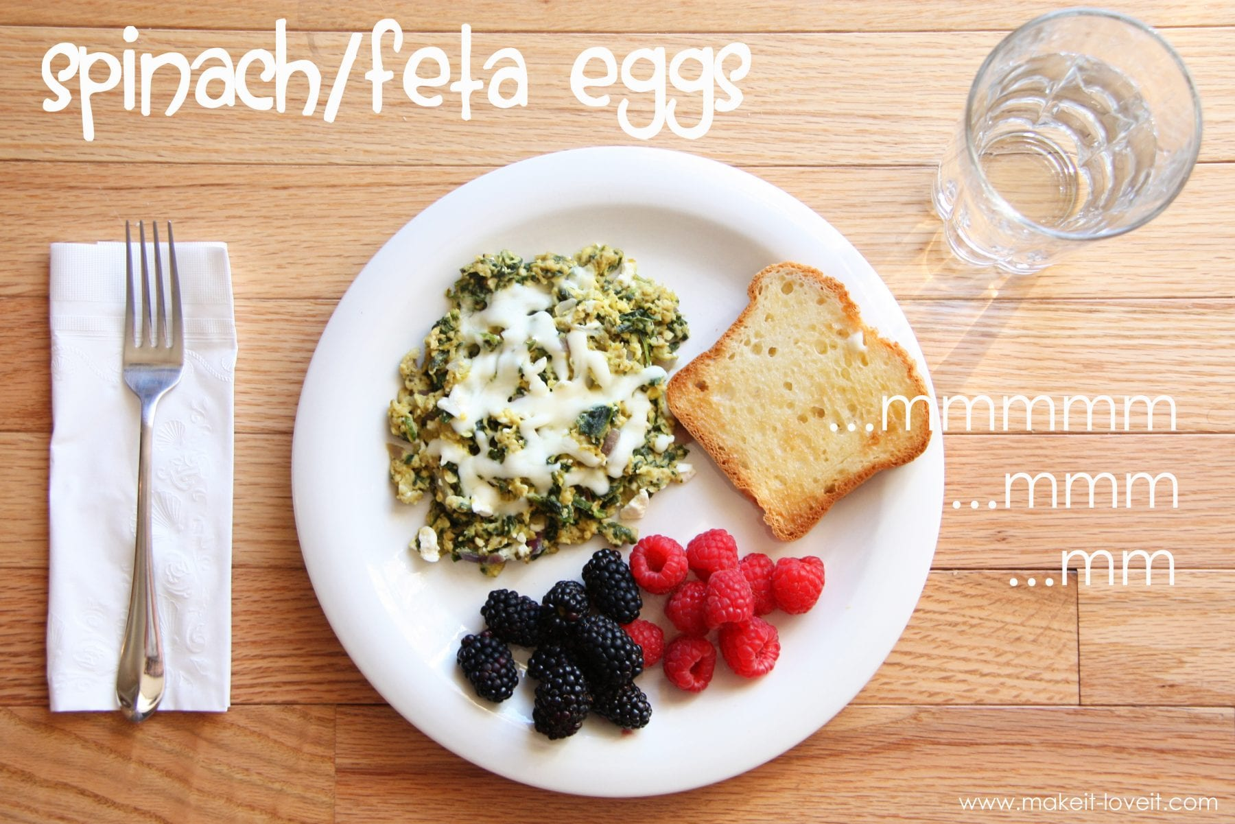 Recipe for Spinach/Feta Eggs (Caution: Incredibly Delicious)