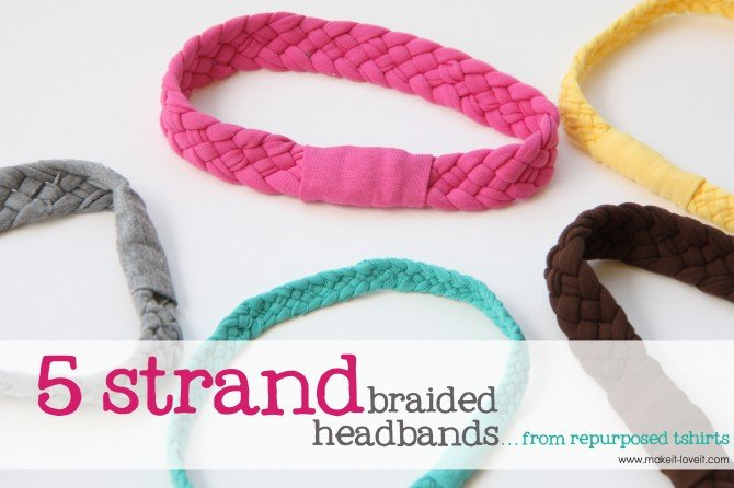 DIY - How to refashion a t-shirt: a braided hearbands