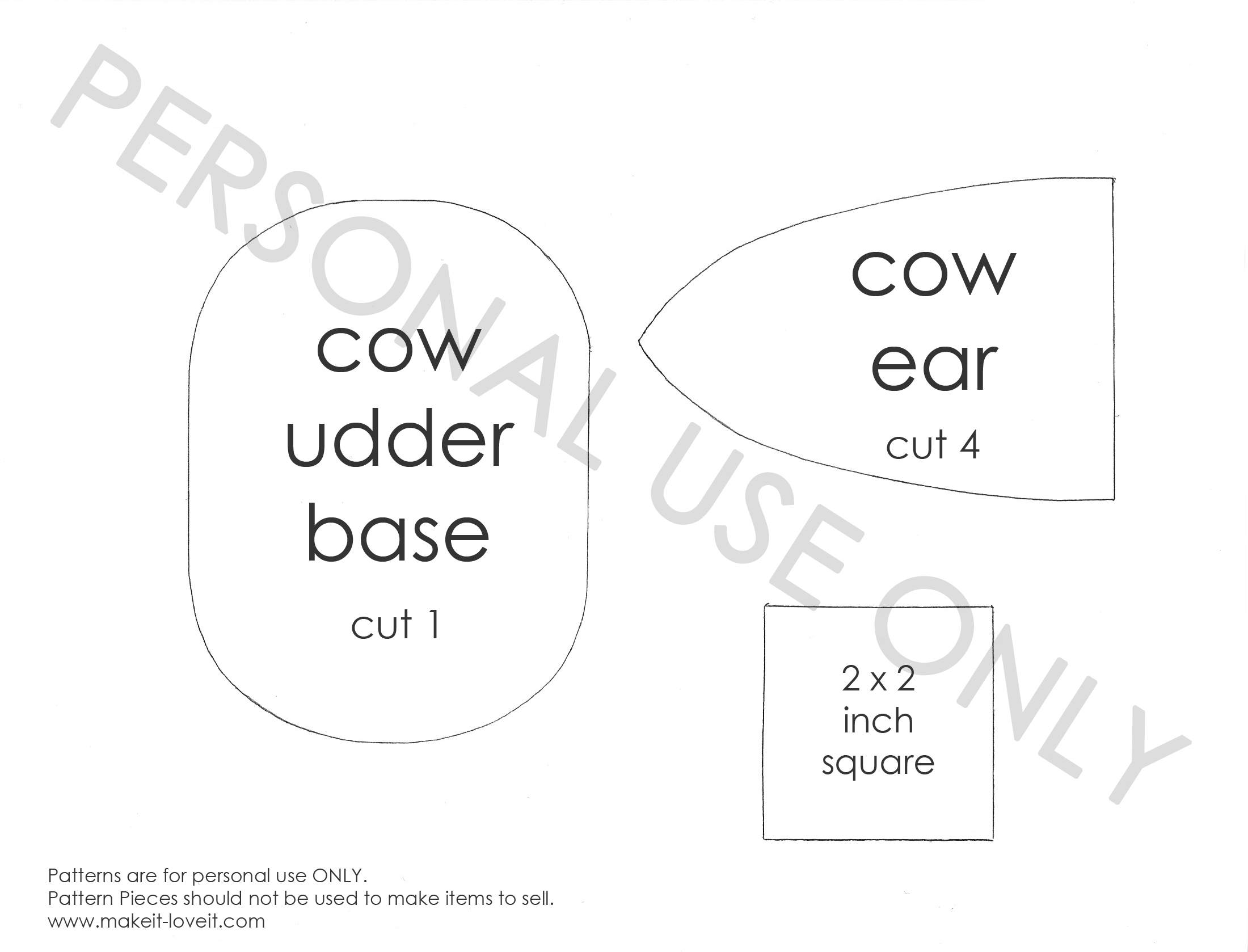 cow costume pattern 2