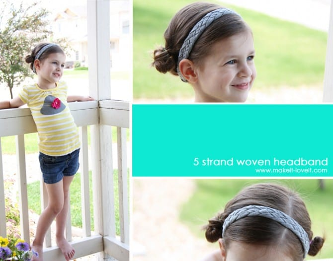 Re-Purposing: Braided Knit Headband out of old T-shirts